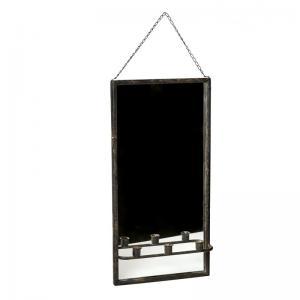 Spegel med ljushållare - Metall - 30 x 9 x 60 cm - www.frokenfraken.se