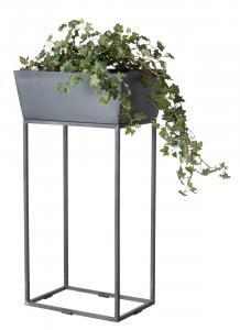 Affari Kruka på pedistal - Grå - Metall - 40 x 28 x H75 cm