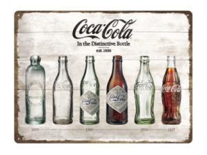 Plåtskylt - Coca-Cola - Timeline - 30 x 40 cm - www.frokenfraken.se