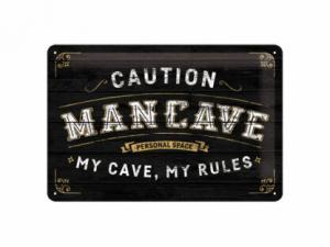 Plåtskylt - Man Cave - 20 x 30 cm - www.frokenfraken.se