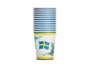 Pappersmugg - Blomflagga - 12 st - www.frokenfraken.se
