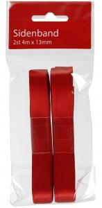 Sidenband - 2-pack - Röda - 4 M - www.frokenfraken.se