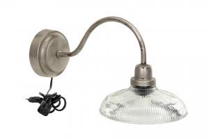 Vägglampa - Antik Silver - 37 x 20 cm - www.frokenfraken.se
