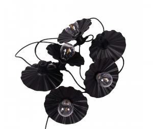 Daisy light string - Black 7,2m - www.frokenfraken.se