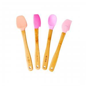 Slickepott set - 4 st - rosa - Bambu - 21 x 4 cm - www.frokenfraken.se