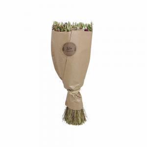 Torkad blomsterbukett - Lila - 45 cm - www.frokenfraken.se