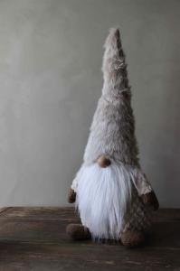 Tomte - Santa Frosty - Beige - 61 cm - www.frokenfraken.se