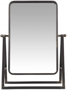 Spegel - Bordsspegel - Factory Svart - 14 x 46 x 32 cm - www.frokenfraken.se