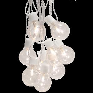 Star Trading Ljusslinga - Vit - 16 ledlampor - Utomhus - 4,5 m