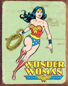 Wonder Woman - Retro Metallskylt - 32x41 cm - www.frokenfraken.se