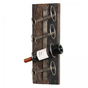Vinställ för vägg - Rustikt Trä - Recycled - 4 flaskor - www.frokenfraken.se
