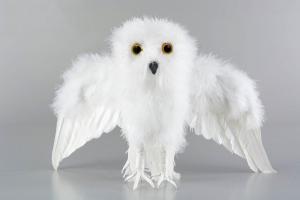 Alot Fågel - Uggla - Flygande - Vit - 44 x 28 cm - www.frokenfraken.se