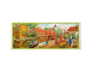 Bonad - sommar stad - 45 x 18 cm - www.frokenfraken.se