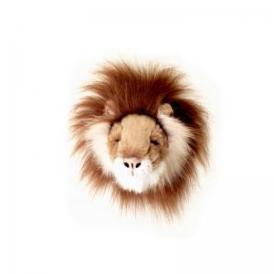 Lejonhuvud för vägg - Mini - 15 cm - www.frokenfraken.se