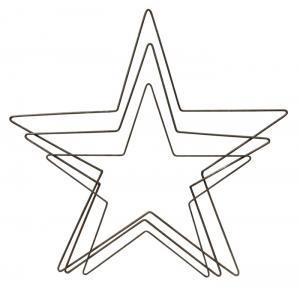 Metallställning - Stjärna - Liten - 43 x 43 cm - www.frokenfraken.se