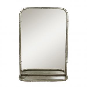 Spegel med hylla - Antik silver - 35 x 13 x 50 cm - www.frokenfraken.se