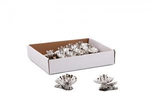 Ljushållare - Silver - för julgransljus - 10-pack - www.frokenfraken.se