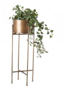 Affari Kruka på pedestal - Brass - Metall - 28 x H75 cm