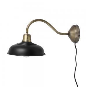 V.8 - Vägglampa - Svart/Mässing - 39 x Ø20 cm - www.frokenfraken.se