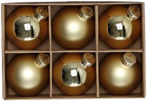 Julkulor Glas - Guld/6-pack - 6 cm - www.frokenfraken.se