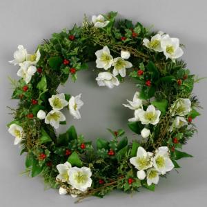 Krans - Christmas Rose - 30 cm - www.frokenfraken.se