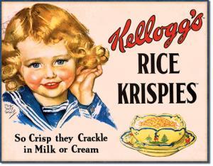 Kelloggs Rice Krispies - Retro Metallskylt - 32 x 41 cm - www.frokenfraken.se