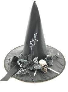 Hatt - Halloween - Häxa med dekoration - 45 x 45 x 38 cm - www.frokenfraken.se