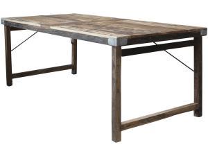 Matbord - Återvunnet trä - 78 x 200 cm - www.frokenfraken.se