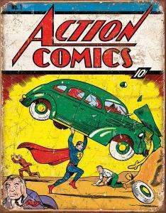Action Comics - Retro Metallskylt - 32 x 41 cm - www.frokenfraken.se