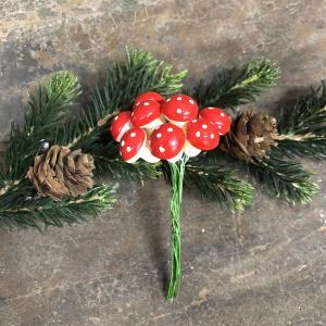 Flugsvampar - Juldekoration - 12 st - Ø1,3 cm - www.frokenfraken.se