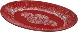 Orient serveringsfat - Röd - Set 4 st - 35 x 26,5 cm - www.frokenfraken.se