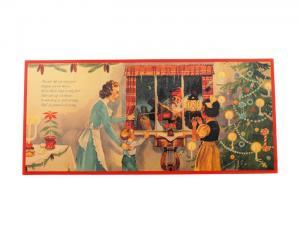 Julbonad - Tomte vid fönstret - 77 x 35 cm - www.frokenfraken.se