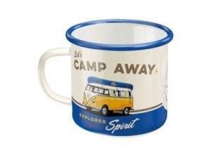 Mugg - Emalj - VW Camp Away - www.frokenfraken.se
