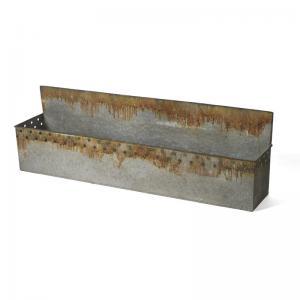 Låda - Metall - Vägg eller stående - 81 x 16 x 25,5 cm - www.frokenfraken.se