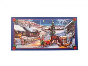 Julbonad - Tomte med häst & släde - 60 x 30 cm - www.frokenfraken.se