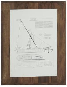 Tavla - Fartygsdesign - 45 x 60 cm - www.frokenfraken.se