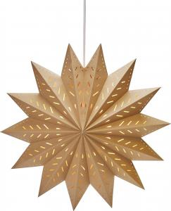 Alfa Julstjärna - Brun 50cm - www.frokenfraken.se