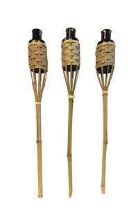 Oljelampor att sticka i marken - Fackla - Bambu - 3st - 60 cm - www.frokenfraken.se