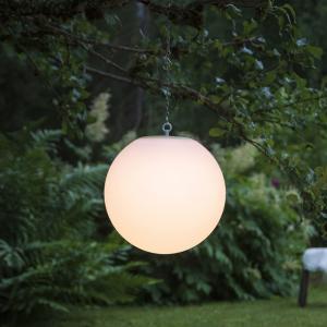 Solcellsdekoration - Utomhus - Vit stor boll/klot - Hängande - Ø30 cm - www.frokenfraken.se