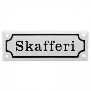 Skafferi - Emaljskylt - 1800 tal - Originalförlaga - www.frokenfraken.se