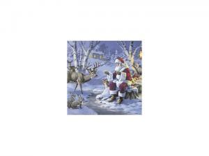 Servetter - Santa in forest - 20-pack/33 x 33 cm - www.frokenfraken.se
