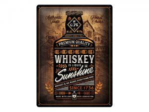 Plåtskylt - Whiskey Sunshine - 30 x 40 cm - www.frokenfraken.se