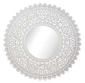 Spegel - Carve - Vit - Ø115 cm - www.frokenfraken.se