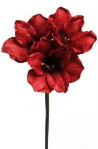 Amaryllis - Röd Konstblomma - 65 cm - www.frokenfraken.se