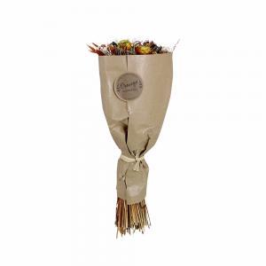 Torkad blomsterbukett - Orange - 45 cm - www.frokenfraken.se