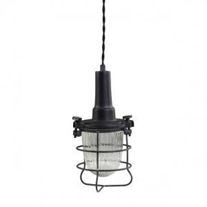 Lampa - Factory - Arbetslampa med glas - H28/Ø13 cm - www.frokenfraken.se