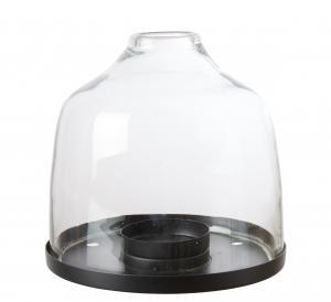 Ljuslykta - Glaskupa på fat - Ø18 x 19 cm - www.frokenfraken.se