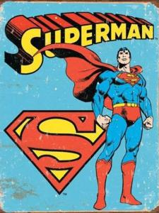 Superman - Retro Metallskylt - 32x41 cm - www.frokenfraken.se