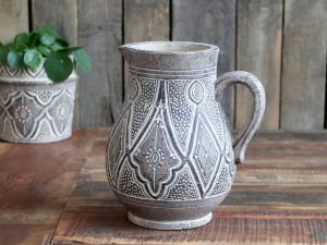 Kanna med mönster - Natur - Decor - 25,5 cm - www.frokenfraken.se