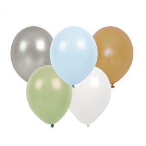 Ballonger - Blandade färger - Blå - 10 st - www.frokenfraken.se